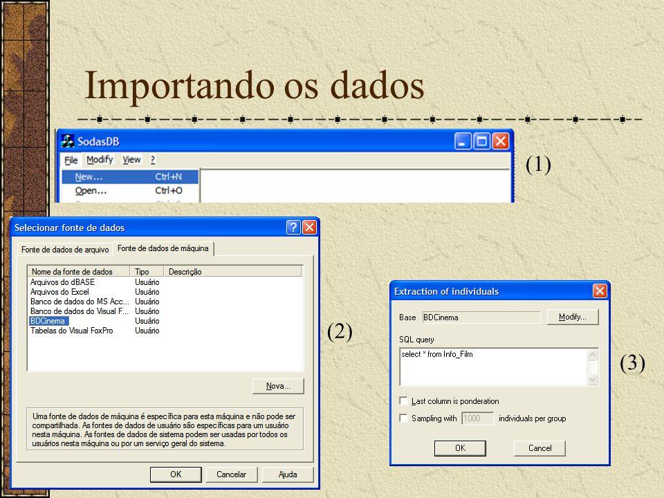 Importando os dados (1) (2) (3)