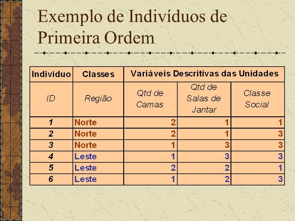 Exemplo de Indivíduos de Primeira Ordem