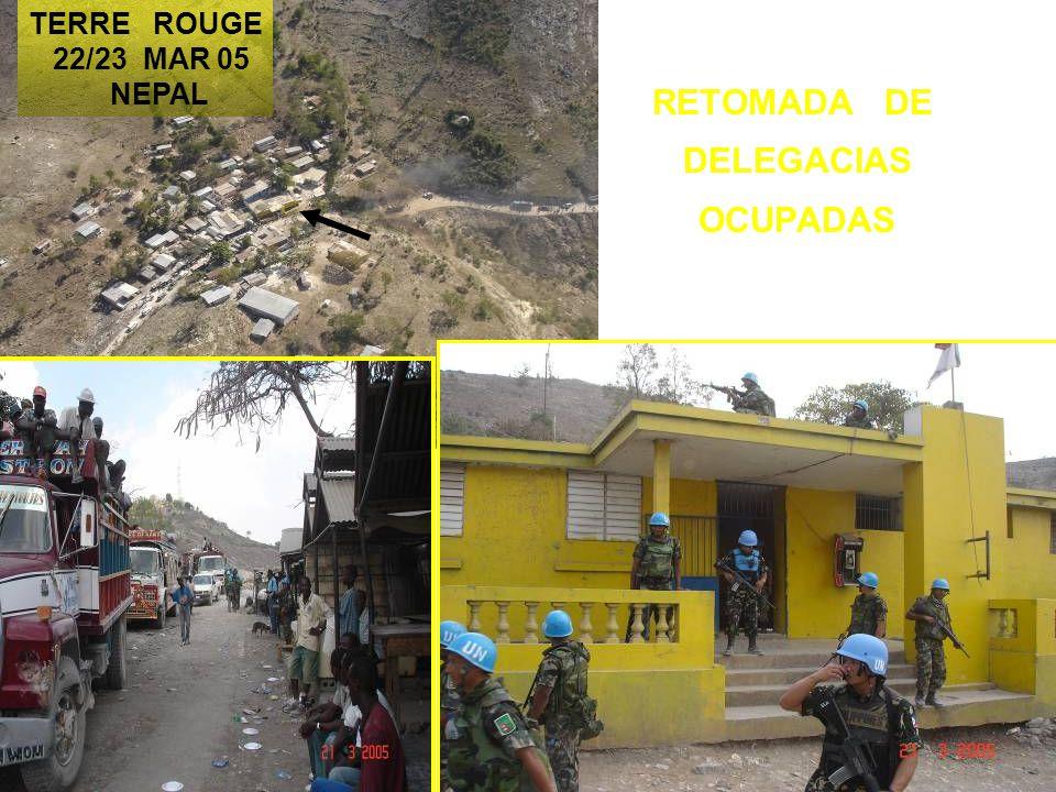 RETOMADA DE DELEGACIAS OCUPADAS TERRE ROUGE 22/23 MAR 05 NEPAL
