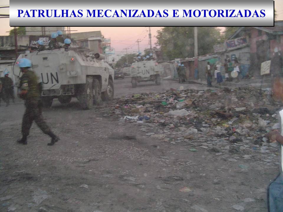 PATRULHAS MECANIZADAS E MOTORIZADAS