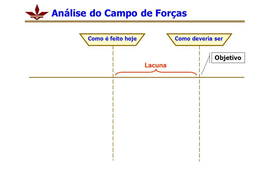 Análise do Campo de Forças Como é feito hojeComo deveria ser Lacuna Objetivo