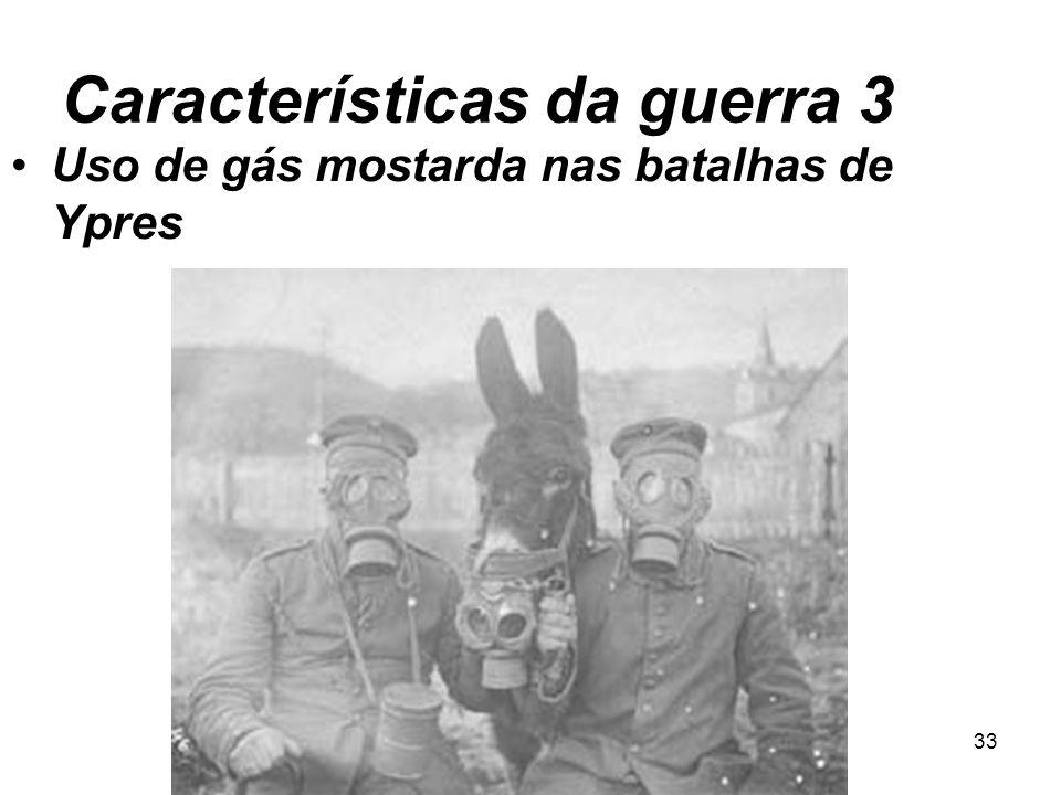 32 Características da guerra 2 Guerra de Trincheiras
