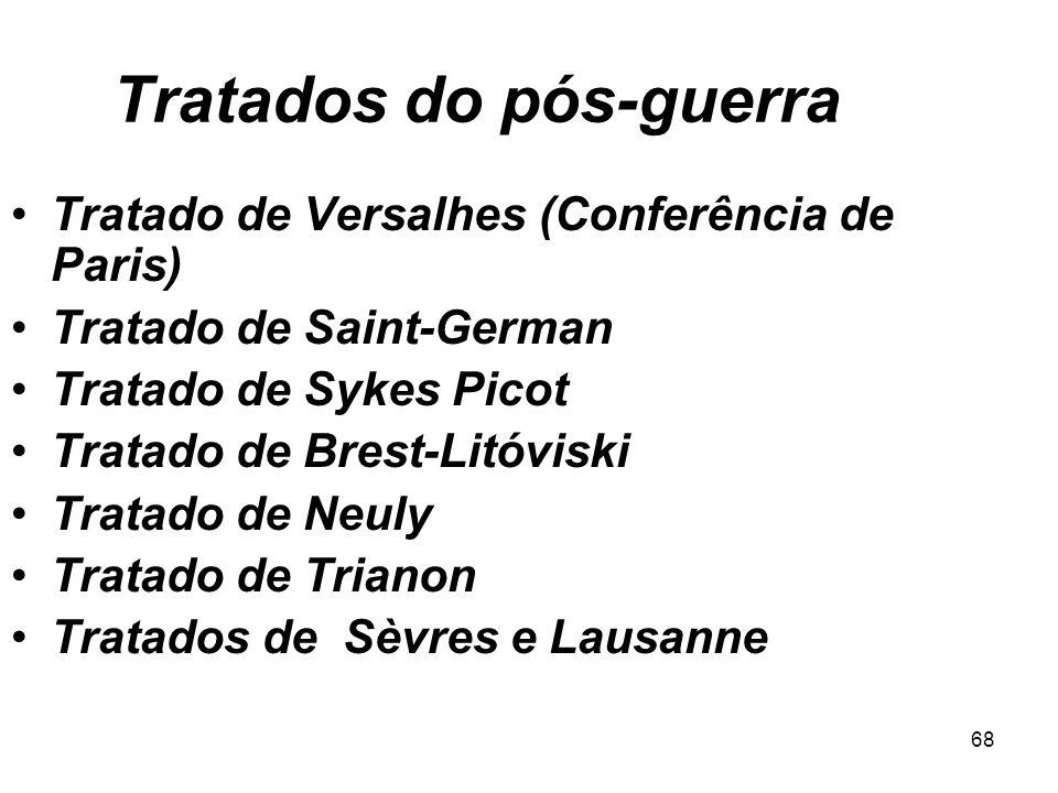 67 Articuladores do Tratado de Versalhes Lloyd George (ENG), Vittorio Orlando (ITA), Georges Clemenceau (FRA) e Woodrow Wilson (EUA) reunidos para o T