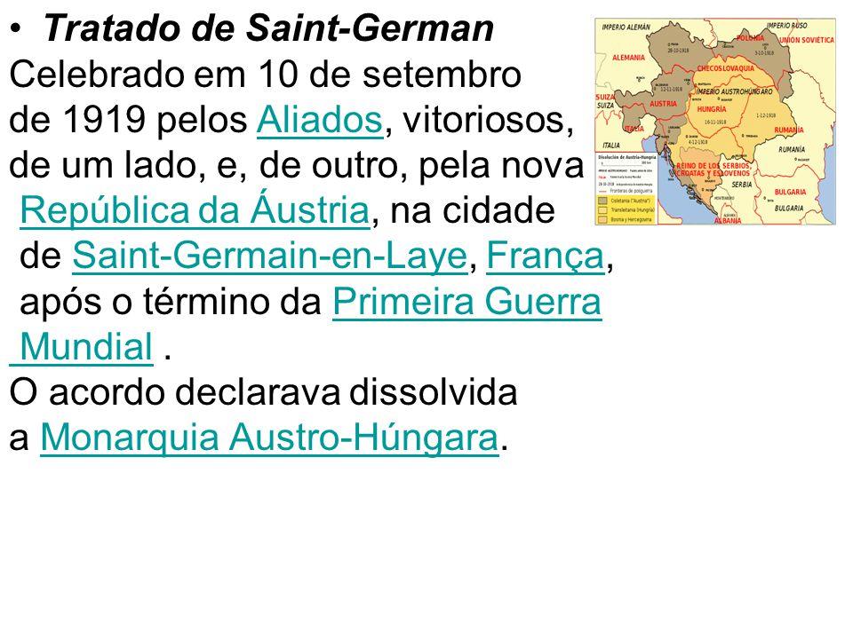 68 Tratados do pós-guerra Tratado de Versalhes (Conferência de Paris) Tratado de Saint-German Tratado de Sykes Picot Tratado de Brest-Litóviski Tratad