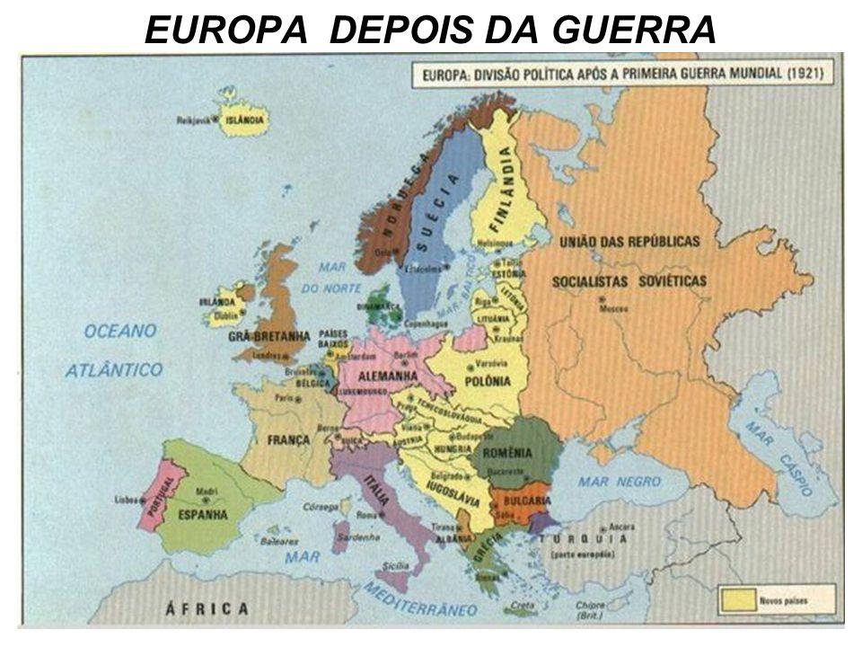 PROF VICENTE - 1ª GUERRA MUNDIAL (1914-1918) 79 EUROPA ANTES E DEPOIS DA GUERRA