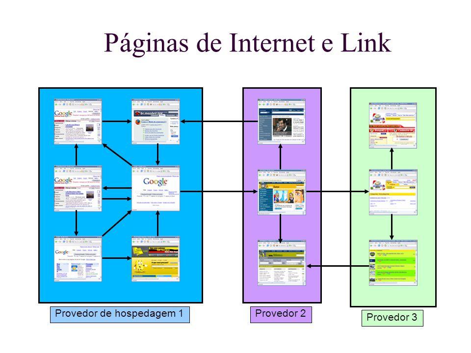 Páginas de Internet e Link Provedor de hospedagem 1Provedor 2 Provedor 3