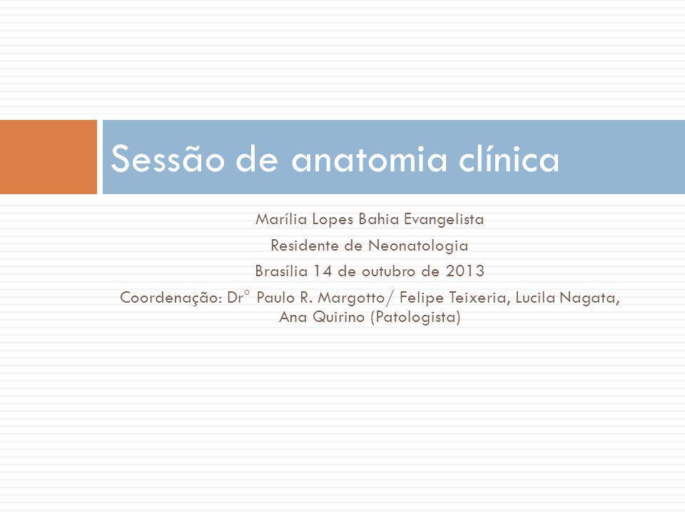 Marília Lopes Bahia Evangelista Residente de Neonatologia Brasília 14 de outubro de 2013 Coordenação: Dr° Paulo R. Margotto/ Felipe Teixeria, Lucila N