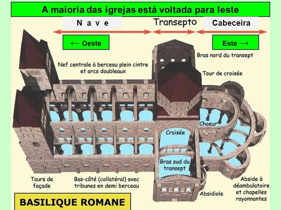 Plano tipo de uma igreja Nave Transepto Coro Abside Ambulatório