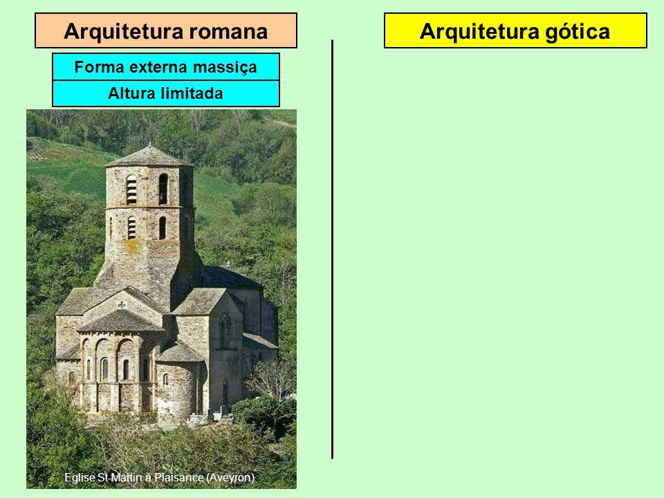 Arquitetura romanaArquitetura gótica Dos X ao XII séculosDos XII ao XV séculos Eglise de Rhuis (Oise) Cathédrale de Noyon (Oise)