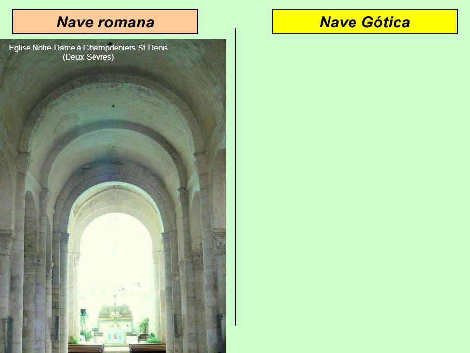 Arquitetura góticaArquitetura romana Abóbada de berçoAbóbada de ogiva O arco semi-circular cria pressões laterais O arco ogival reduz a pressão latera