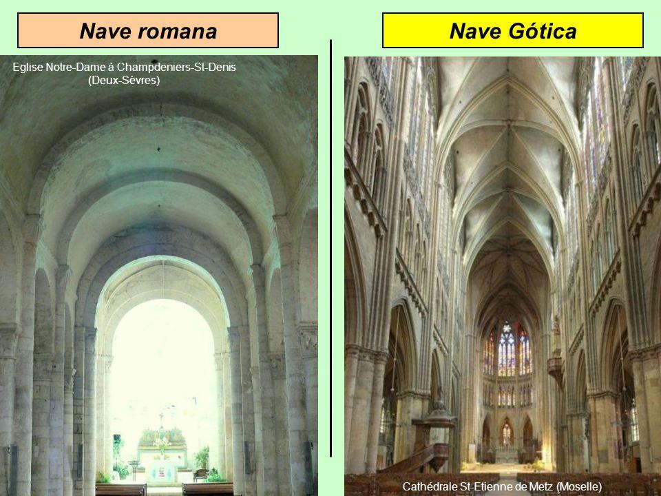 Nave GóticaNave romana Eglise Notre-Dame à Champdeniers-St-Denis (Deux-Sèvres)