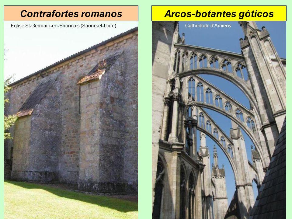 Contrafortes romanos Eglise St-Germain-en-Brionnais (Saône-et-Loire)