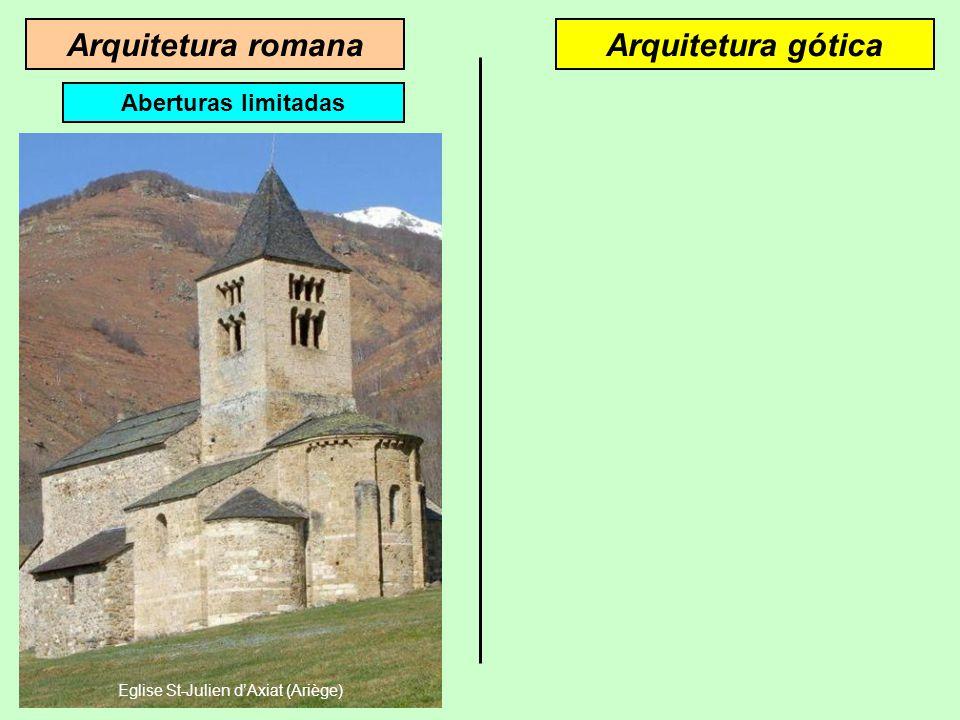 Arquitetura góticaArquitetura romana As abóbadas em berço são baseadas em paredes espessas As abóbadas em ogiva assentam em pilares Croisée d'ogives P