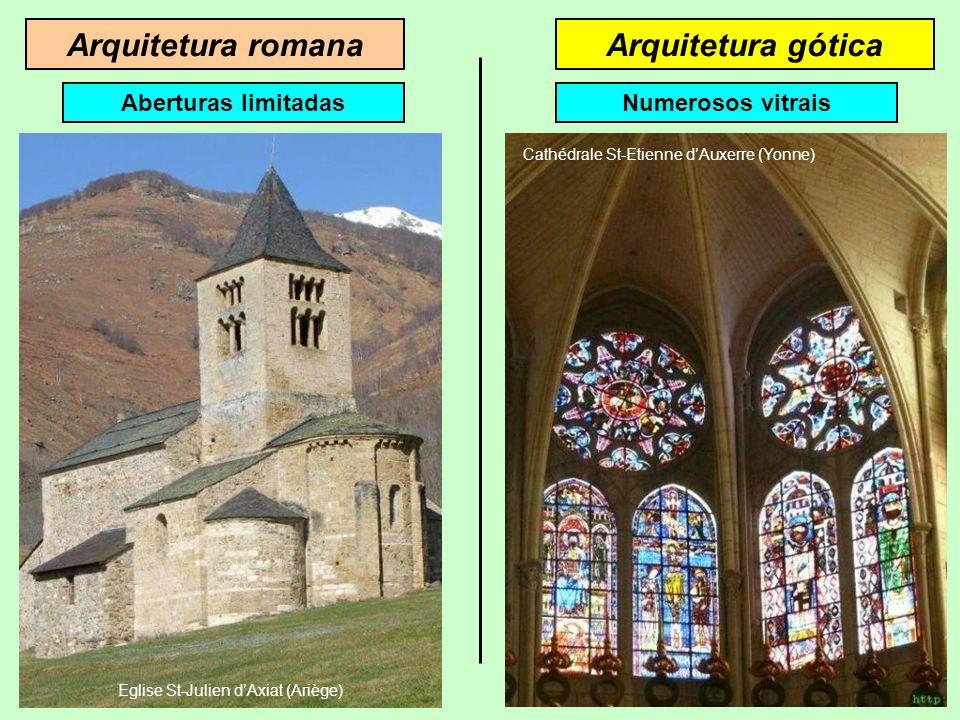 Arquitetura góticaArquitetura romana Aberturas limitadas Eglise St-Julien d'Axiat (Ariège)