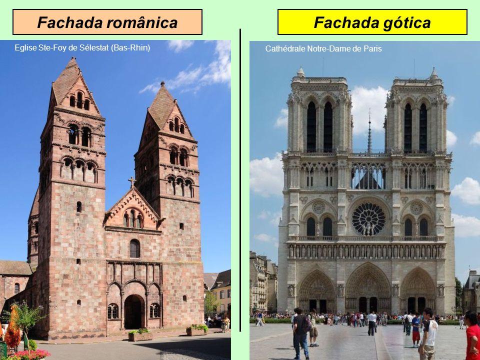 Fachada góticaFachada românica Eglise Ste-Foy de Sélestat (Bas-Rhin)