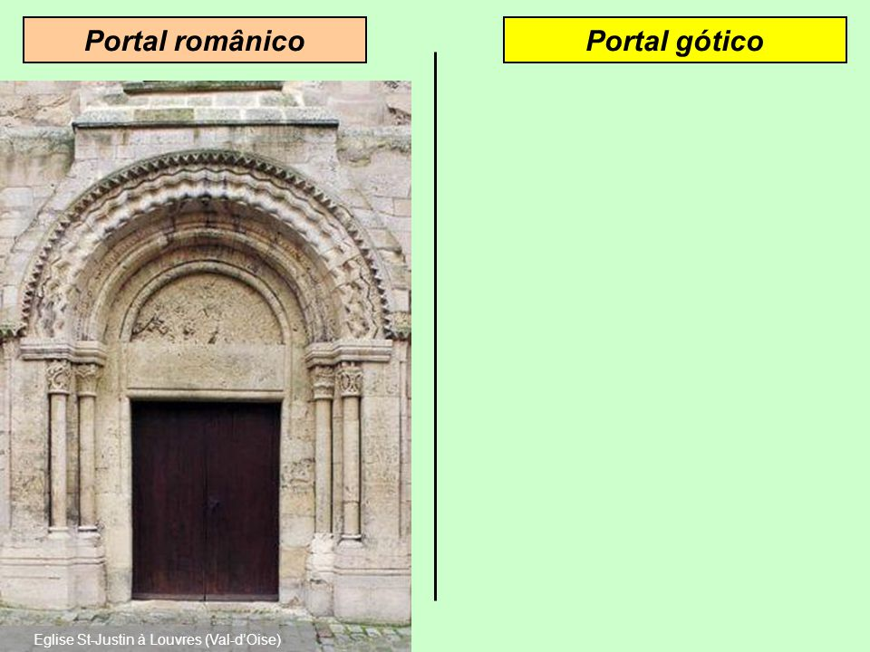 Fachada góticaFachada românica Eglise Ste-Foy de Sélestat (Bas-Rhin) Cathédrale Notre-Dame de Paris