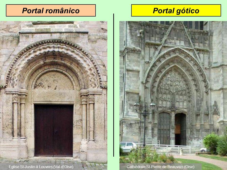 Portal góticoPortal românico Eglise St-Justin à Louvres (Val-d'Oise)
