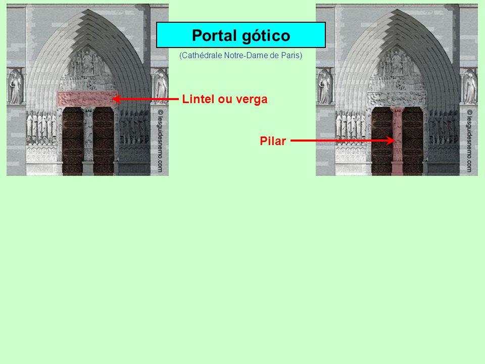 Portal gótico Lintel ou verga (Cathédrale Notre-Dame de Paris)