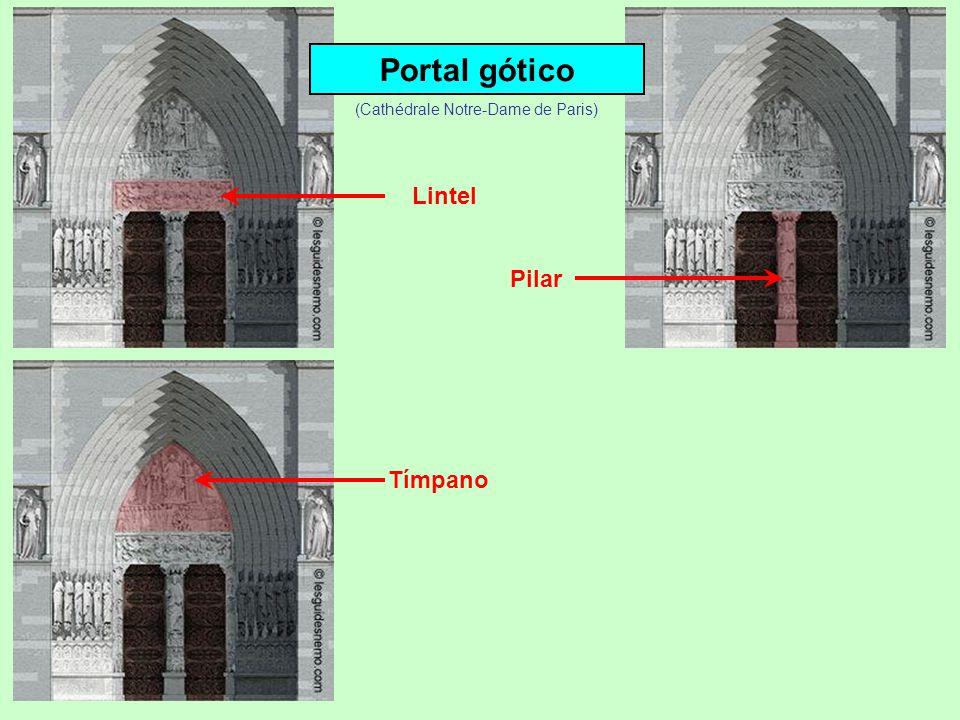 Portal gótico Lintel ou verga Pilar (Cathédrale Notre-Dame de Paris)