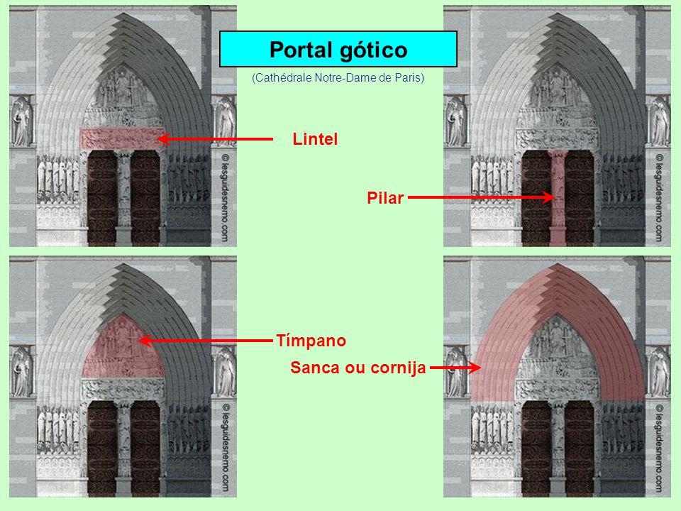 Portal gótico Lintel Pilar Tímpano (Cathédrale Notre-Dame de Paris)