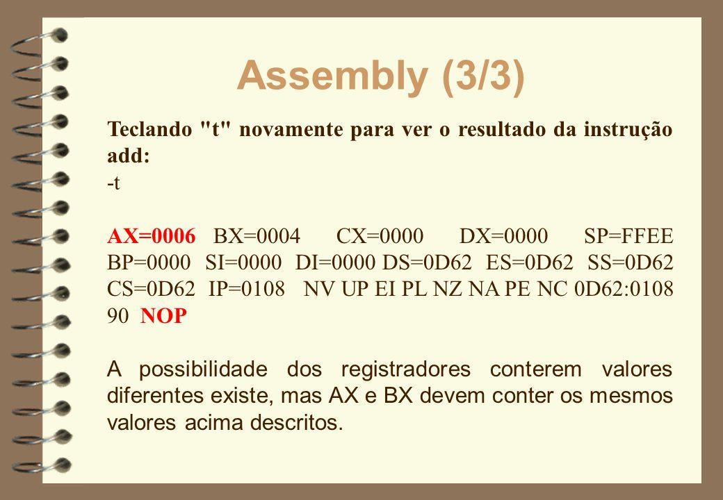 Assembly (3/3) Teclando