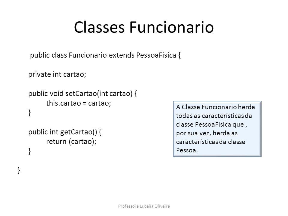 Agora vamos criar uma classe para executar os métodos polimórficos: package heranca; import javax.swing.JOptionPane; public class Polimorfismo { public static void main(String args[]){ Pessoa pessoa = null; String tip; int tipo; tip = JOptionPane.showInputDialog( Qual o construtor deseja utilizar.