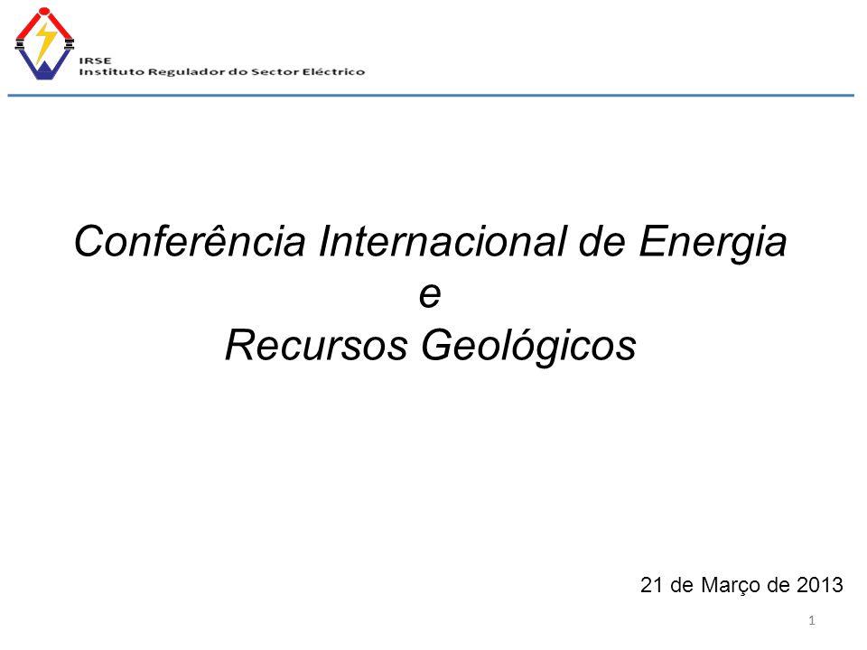 11 Conferência Internacional de Energia e Recursos Geológicos 21 de Março de 2013