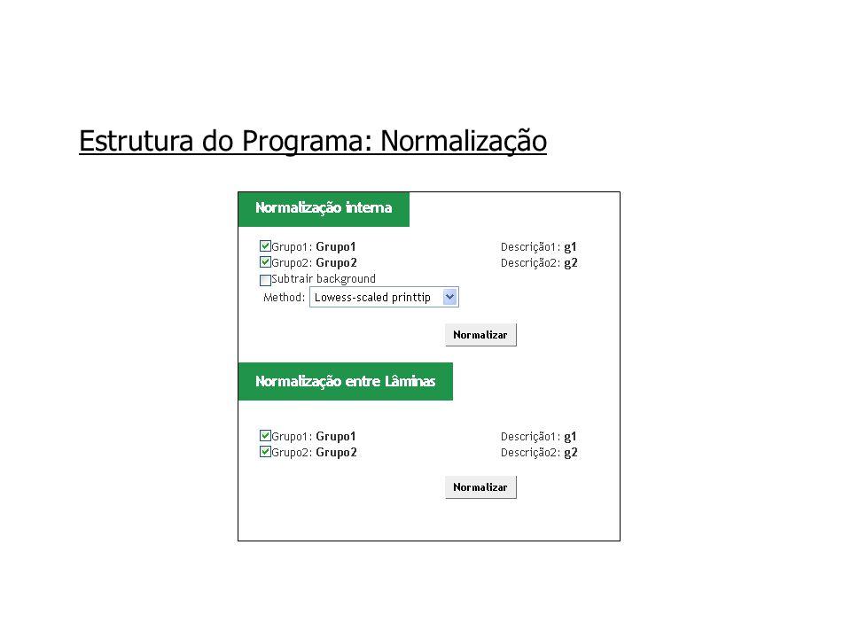 Estrutura do Programa: Normalização