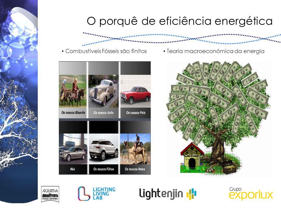 O porquê de eficiência energética Combustiveis Fósseis são finitos Teoria macroeconómica da energia