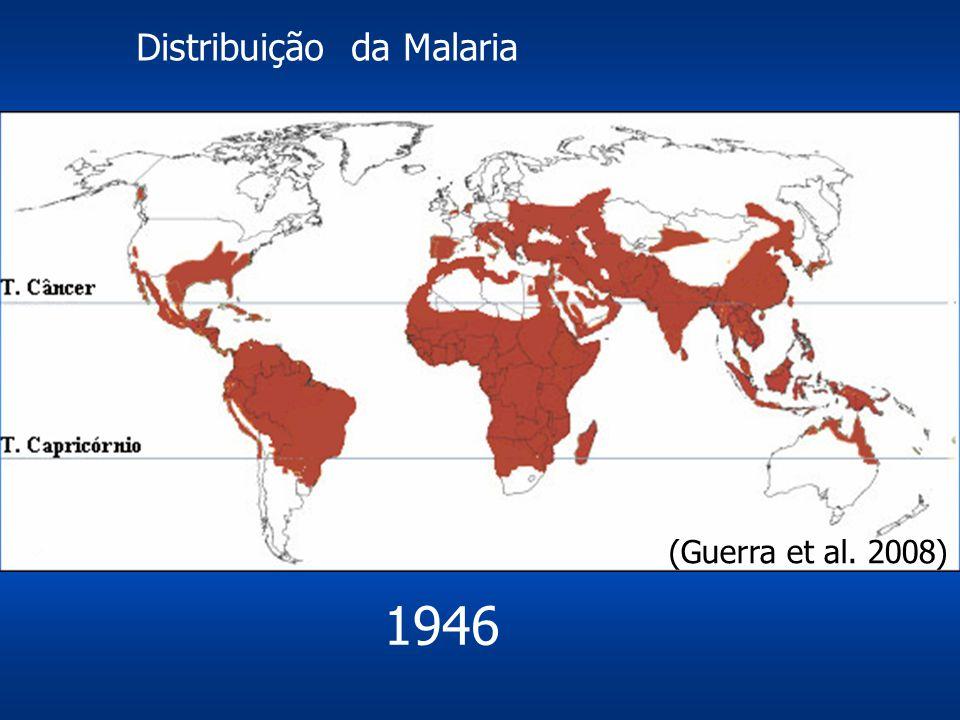Distribuição da Malaria 1946 (Guerra et al. 2008)