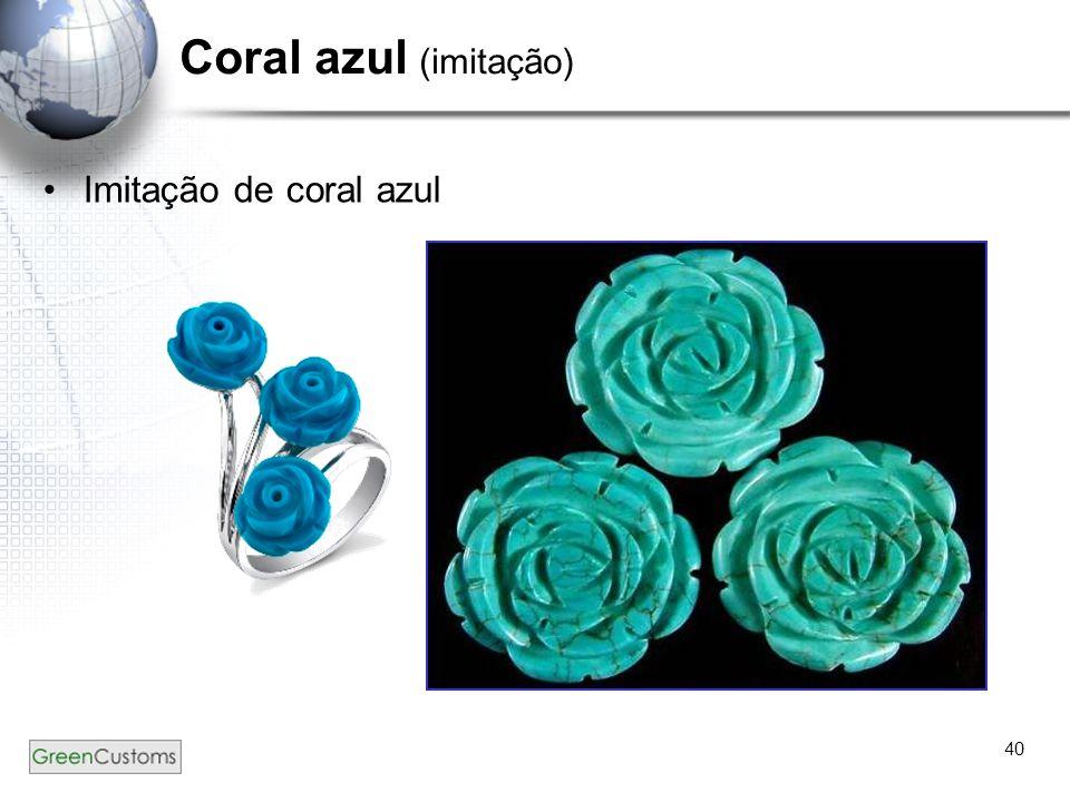 40 Coral azul (imitação) Imitação de coral azul