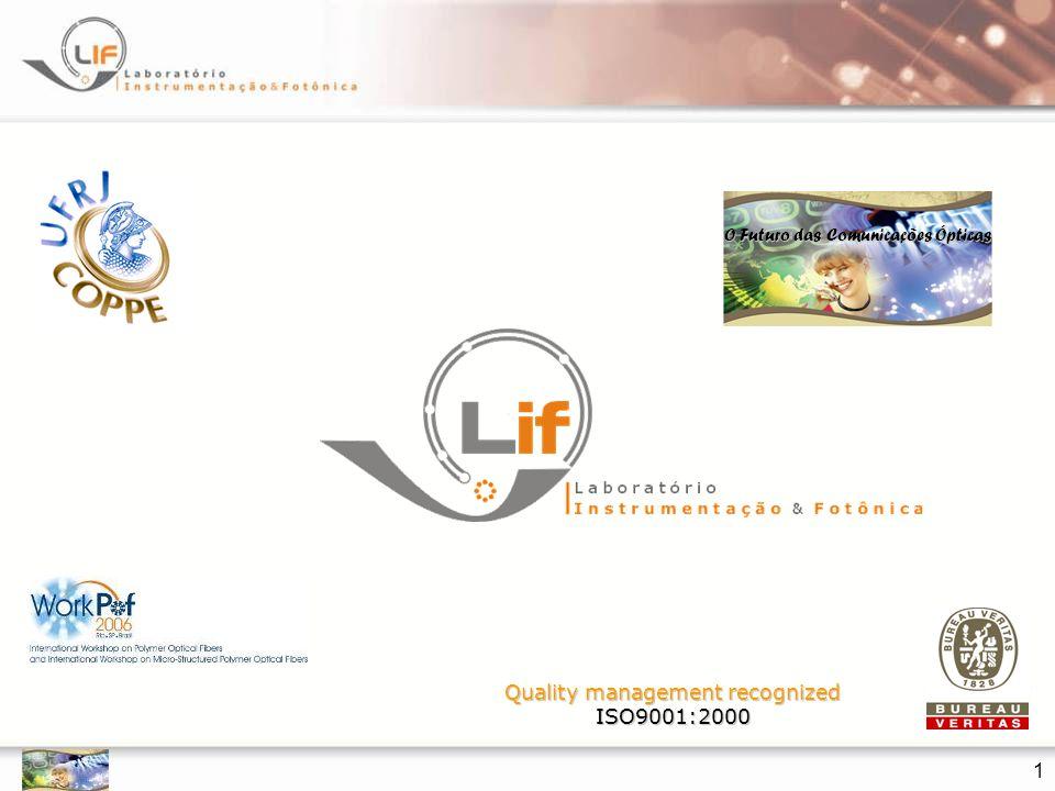 Limites do SI-POF  HVTV: 1.65 Gbps  Cabo de cobre está limitado em 8-10 m  POF/LED 25 m (*) 40 Gbps-m  6 MHz analógico com 300 m  100 Mbps Fast Ethernet com 100 m (*) Vinogradov et al, 16 th ICPOF, Turin, 2007