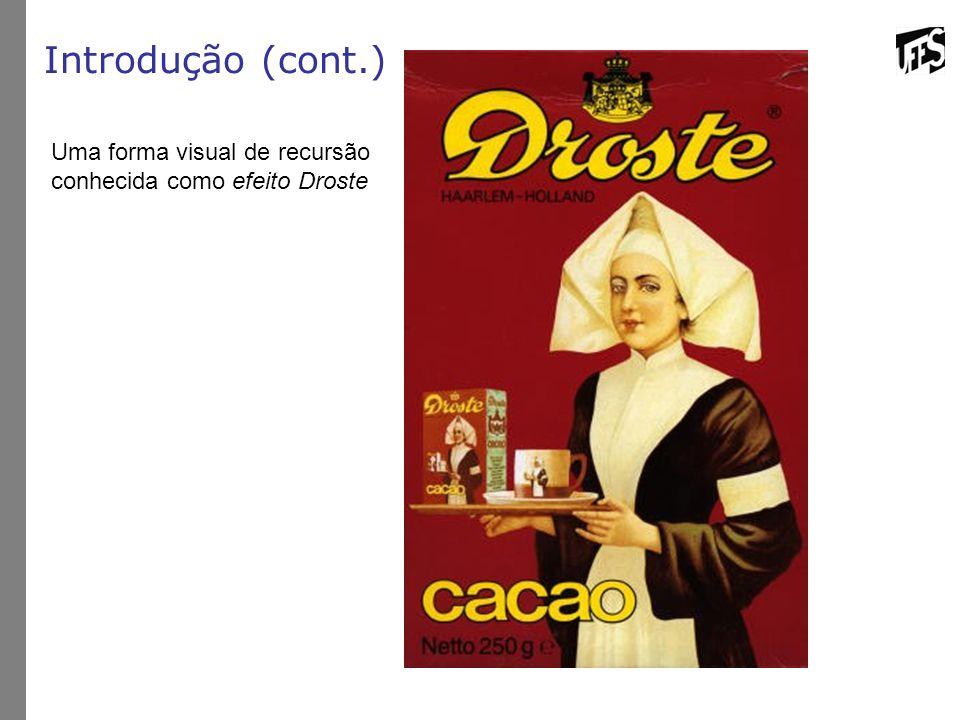 Introdução (cont.) Uma forma visual de recursão conhecida como efeito Droste