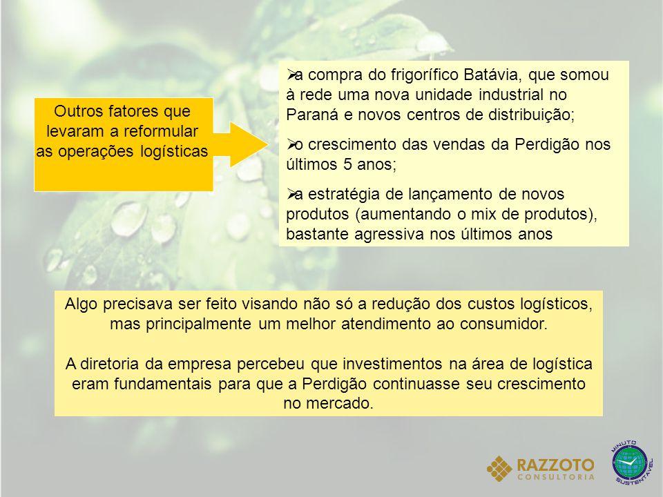  a compra do frigorífico Batávia, que somou à rede uma nova unidade industrial no Paraná e novos centros de distribuição;  o crescimento das vendas