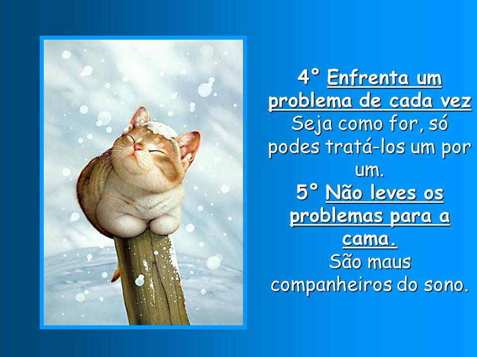 4° Enfrenta um problema de cada vez Seja como for, só podes tratá-los um por um.