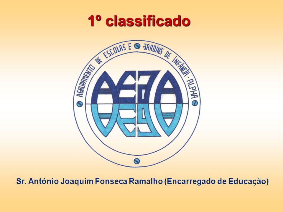 1º classificado Sr. António Joaquim Fonseca Ramalho (Encarregado de Educação)