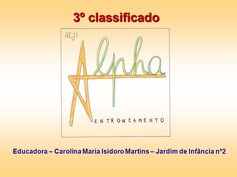 3º classificado Educadora – Carolina Maria Isidoro Martins – Jardim de Infância nº2