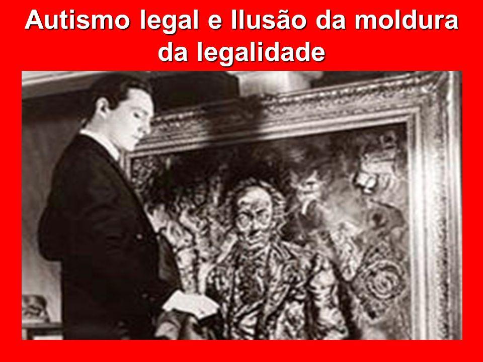 Autismo legal e Ilusão da moldura da legalidade