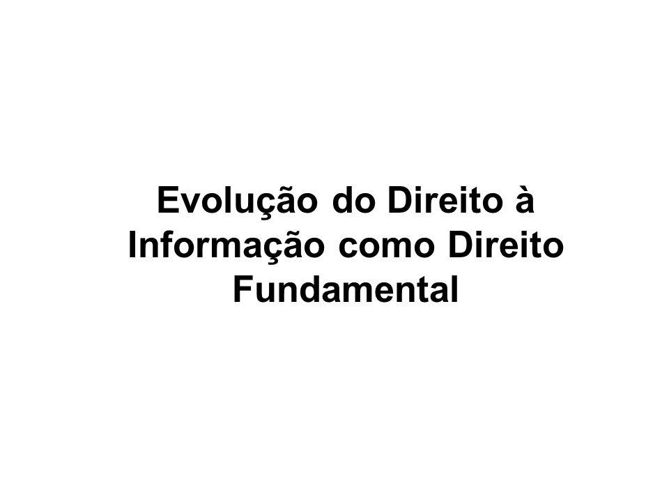 Evolução do Direito à Informação como Direito Fundamental