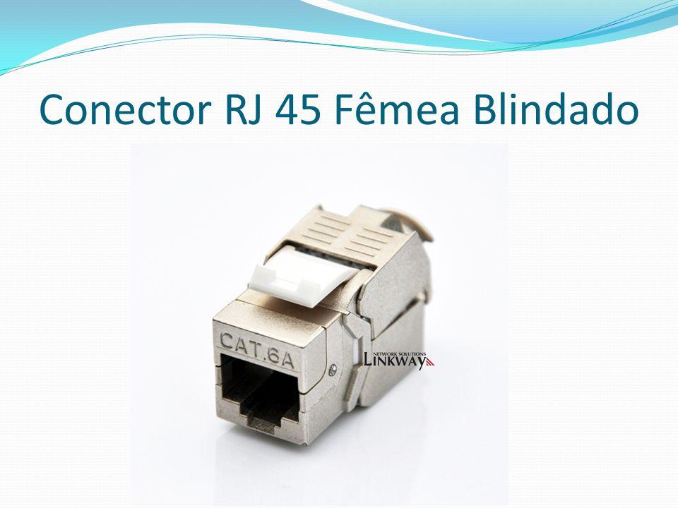 Conector RJ 45 Fêmea Blindado