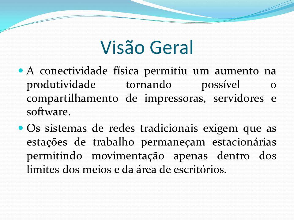 Visão Geral A conectividade física permitiu um aumento na produtividade tornando possível o compartilhamento de impressoras, servidores e software.
