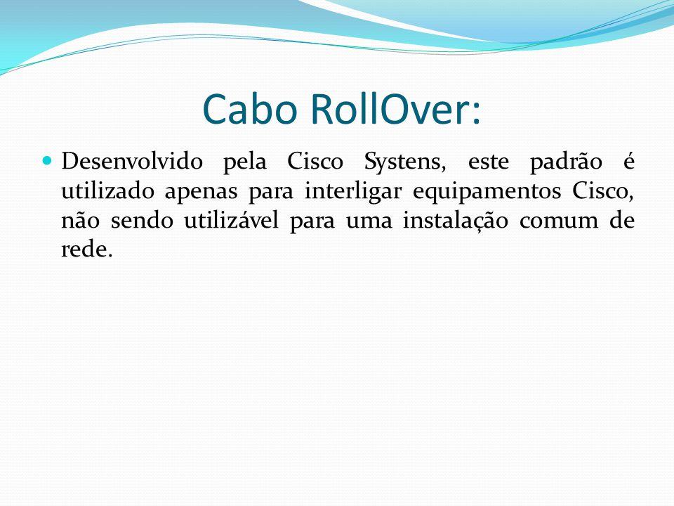 Cabo RollOver: Desenvolvido pela Cisco Systens, este padrão é utilizado apenas para interligar equipamentos Cisco, não sendo utilizável para uma instalação comum de rede.