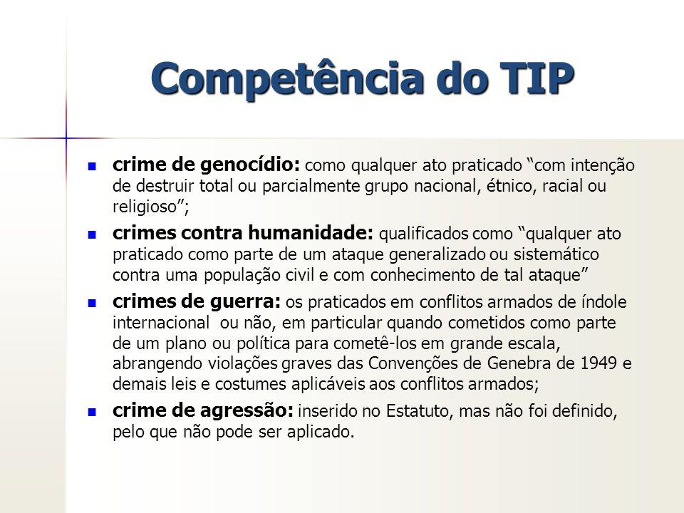 """Competência do TIP crime de genocídio: como qualquer ato praticado """"com intenção de destruir total ou parcialmente grupo nacional, étnico, racial ou r"""