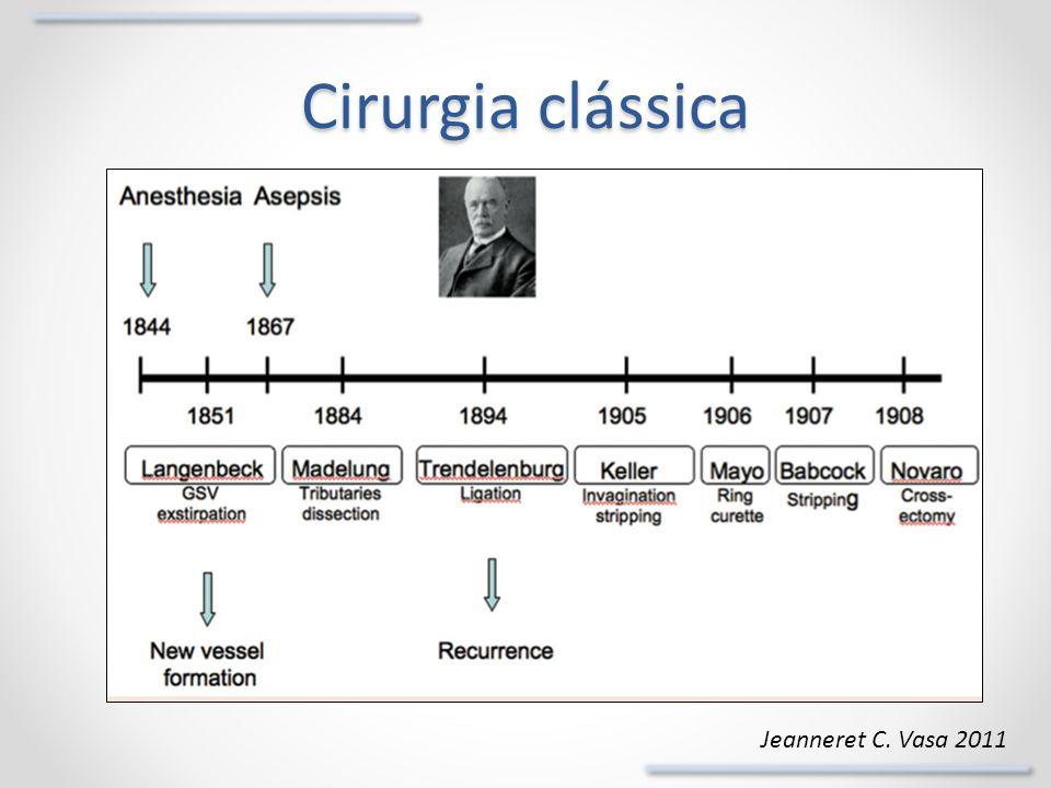 Alterações histológicas Schmedt. Eur J Vasc Endovas Surg 2006