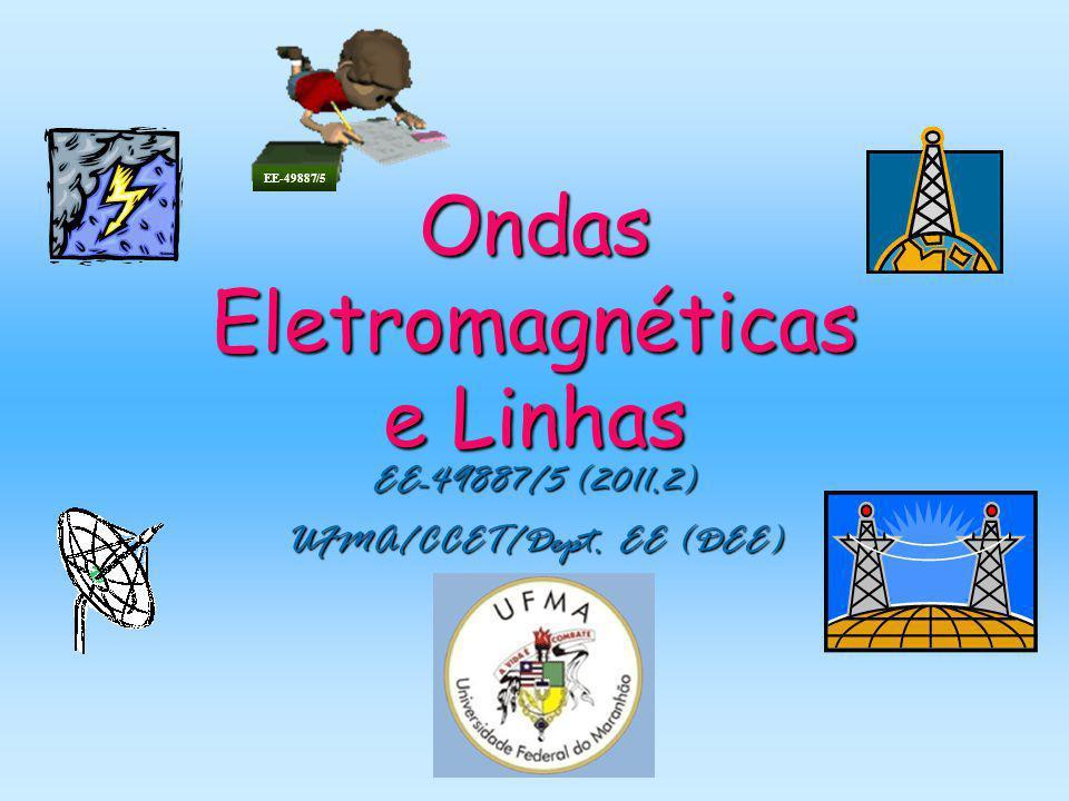 Propagação de Ondas Eletromagnéticas C ADASTRO NA D ISCIPLINA Enviar e-mail: fsouzadee@gmail.com Assunto: OEL Semestre 2011.2 Corpo do e-mail: Nome completo - Código EE-49887/5