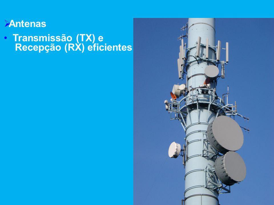  Antenas Transmissão (TX) e Recepção (RX) eficientes