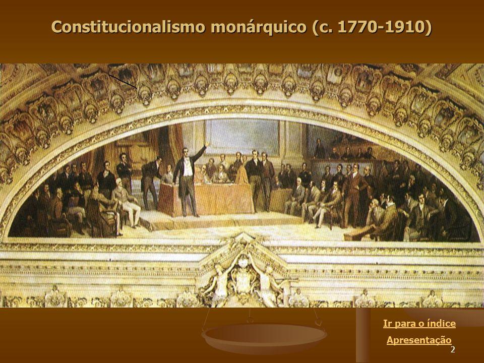 3 A História Constitucional Portuguesa, mesmo que for concebida como uma mera história de textos, tem que partir de muito mais do que a simples letra das constituições.