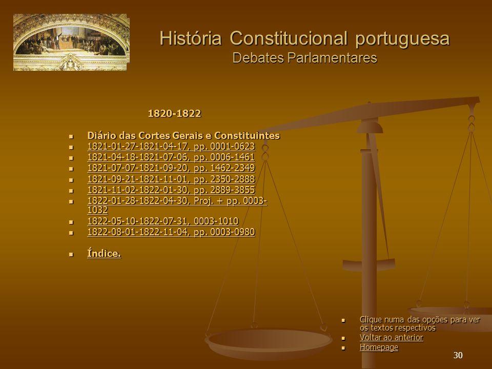 30 História Constitucional portuguesa Debates Parlamentares 1820-1822 Diário das Cortes Gerais e Constituintes Diário das Cortes Gerais e Constituintes 1821-01-27-1821-04-17, pp.