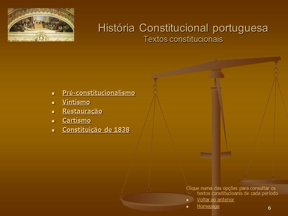 7 História Constitucional portuguesa Debates parlamentares Diário das Cortes Extraordinárias e Constituintes (1820-1822) Diário das Cortes Extraordinárias e Constituintes (1820-1822) Diário das Cortes Extraordinárias e Constituintes (1820-1822) Diário das Cortes Extraordinárias e Constituintes (1820-1822) Diário das Cortes (1822-1823) Diário das Cortes (1822-1823) Diário das Cortes (1822-1823) Diário das Cortes (1822-1823) Diário das Cortes (apenas os índices) 1827-1828) Diário das Cortes (apenas os índices) 1827-1828) Diário das Cortes (apenas os índices) 1827-1828) Diário das Cortes (apenas os índices) 1827-1828) Diário das Cortes e O Nacional (1837-1838) Diário das Cortes e O Nacional (1837-1838) Diário das Cortes e O Nacional (1837-1838) Diário das Cortes e O Nacional (1837-1838) Acto Adicional de 1852 (Câmara dos Deputados / Câmara dos Pares) Acto Adicional de 1852 (Câmara dos Deputados / Câmara dos Pares)Câmara dos Deputados Câmara dos ParesCâmara dos Deputados Câmara dos Pares Acto Adicional de 1885 (Câmara dos Deputados / Câmara dos Pares) Acto Adicional de 1885 (Câmara dos Deputados / Câmara dos Pares)Câmara dos Deputados Câmara dos ParesCâmara dos Deputados Câmara dos Pares Acto Adicional de 1896 (Câmara dos Deputados / Câmara dos Pares) Acto Adicional de 1896 (Câmara dos Deputados / Câmara dos Pares)Câmara dos Deputados Câmara dos ParesCâmara dos Deputados Câmara dos Pares Clique numa das opções para consultar os debates parlamentares de cada período Voltar ao anterior Homepage