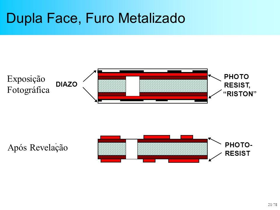 """21/78 Dupla Face, Furo Metalizado DIAZO PHOTO RESIST, """"RISTON"""" PHOTO- RESIST Exposição Fotográfica Após Revelação"""
